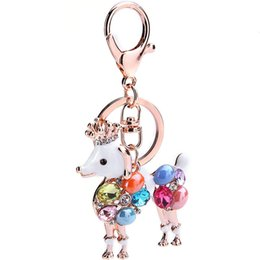 Wholesale Key Chain Crown - 2017 Sale Special Offer Tin Alloy Key Chain Porte Clef Monchichi Key Ring Dog Series Car Gift Crown Metal Chain Speed Supply