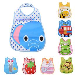 Wholesale Cute Towels For Girls - Bandana Baby Bibs Waterproof Cute Cartoon Boys Girl Lunch Burp Clothes Care Breastplates for Babies EVA Feeding Towel Unisex