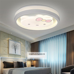 Wholesale Cats Ceiling - Fresh Style LED Ceiling Lights with Cartoon Cat Pattern Concise LED Ceiling Lights with SMD 2835