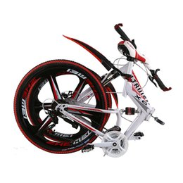 Wholesale 26 Inch Mountain Bike Frames - Altruism X6 24-Inch 26-Speed Aluminum Alloy Frame Folding Mountain Disc Brake Bicycle Racing Suspension Bicycles