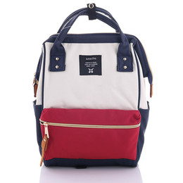 Wholesale japan school bags - Wholesale- New 2017 Japan School Backpacks For Teenage Girls Cute School Backpack For School College Bag For Women Anello Ring Backpack