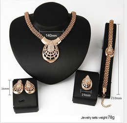 Wholesale Spider Earrings Rhinestone - Gold-plated Jewelry Set Spider Mask Necklace&Earrings&Ring Sets for Women