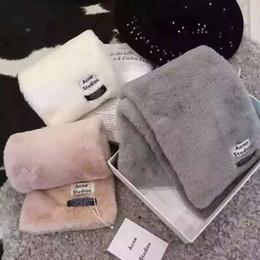 Wholesale Faux Rabbit Fur - 100*18 CM 2017 Autumn Winter Fashion ACNE Scarf For Women Luxury Brand Warm Soft Faux Rex Rabbit Fur Scarf Round Neck Snood Scarf Ring