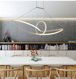 Wholesale Aluminium Boats - Acrylic boat minimalist led pendant light led hanging lamp suspension chandeliers livingroom indoor lighting fixture Aluminium Mobius strip
