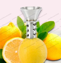 Wholesale Lemon Squeezer Free Shipping - 2017 NEW Stainless Steel Fruit Vegetable Tools Lemon Juicer Manually Squeezers free shipping MYY