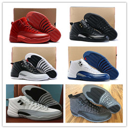 Wholesale Retro Wool - 2017 Air retro 12 Basketball shoes men Women The Master Gym Red Retro XII Wool Black NylonGym red French Blue Gamma Blue Taxi Sneakers Boots