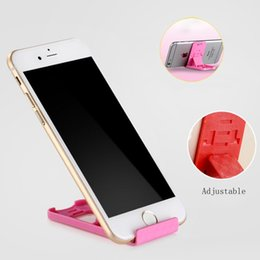 Wholesale Support Stand Tablet - Universal Mobile Cell Phone Holder Stand Folding 3 Gear Adjustable Support Tablet Smartphone Card Mount For iphone 6S plus samsung