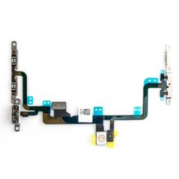 Volume de puissance flex en Ligne-Nouveau bouton de volume de puissance de test de haute qualité Connecteurs de sourdine Câble Flex avec supports en métal pour iPhone 7 7G 7 Plus