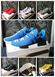 Wholesale Mesh For Sale - 2018 Original Pharrell Williams X Human Race Running Shoes Runner men and women Trainers Sneakers Size 36-45 for sale