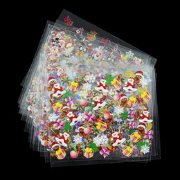 Wholesale 3d Christmas Nail Designs - Wholesale- 24 Designs Lot Beauty Christmas Style Nail Stickers 3D Nail Art Decotations Glitter Manicure Diy Tools For Charms Nails JH159