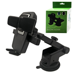 Wholesale Wholesale Car Windows - High Quality 360 Degree Universal Mobile Car Phone Holder Adjustable Window Windshield Dashboard Holder Stand For iphone samsung