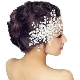 Wholesale Crystal Headbands For Flower Girls - Bridal Wedding Hair Accessories Pearl Flower Tiara Headpiece Crystal Headband for girls