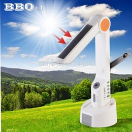 Wholesale Solar Charger Radio Led - Multifunctional Solar Desktop LED Light Dynamo Solar Lamp with Phone Charger FM Radio Speaker For Camping Outdoor Barbecue Tools