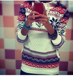 Wholesale Wholesale Womens Winter Sweaters - Wholesale-2016 Fashion Women pullover sweaters christmas jumper spring winter long sleeve hooded style casual print womens sweater tops