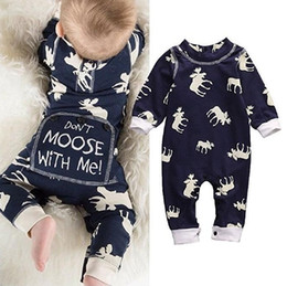 Wholesale Baby Boy Size 12 Months - 2017 Boys Girls Baby Jumpsuits Long Sleeve Toddler Rompers Clothing Cartoon Printed Newborn Onesies Spring Autumn Bodysuit Infant Clothes
