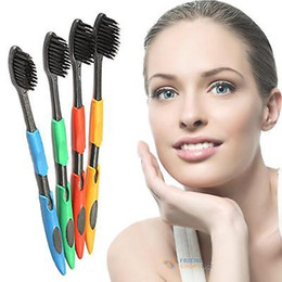 зубные щетки для десен Скидка Доставка горячий продавать корейский зубная щетка ультра мягкий десен-защитный анион здоровье бамбук уголь зубная щетка 4 шт.=1 шт.