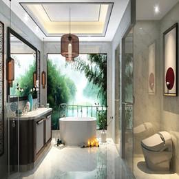 Wholesale Glazing Ceramic Tiles - 600 * 600mm Interior Tiles Room Floor Tile Non-slip Full Cast Glaze Home Building Living Room Light Yellow and White Sturdy Wearable