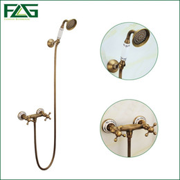 Wholesale Tub Shower Faucet Rain - Rain Shower Set Bathroom Robinet Baignoire Tub Faucet Bathroom Shower Thermostatic Valve Shower Set Bath Tub s In Euros FLGHS012