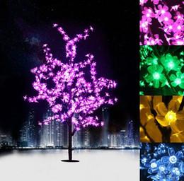lampada di cristallo dentellare Sconti 1.5M 1.8M LED Crystal Cherry Blossom Tree Lights Natale Nuovo anno Luminaria Albero decorativo lampada paesaggio illuminazione esterna LLFA