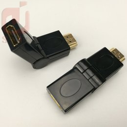 Wholesale Hdtv Data Cable - HDMI male to HDMI female cable adapter converter extender 180 degrees angle for HDTV Computer Camera Projector hdmi adapter 300ps lot
