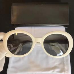 Wholesale California Fashion Men - unisex California Surf Sunglasses SLP Hedi Slimane SL 98 SURF white grey Fashon Sunglass SL 98 Men Brand Sunglasses Brand New with Box