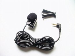 Wholesale Handheld Dvd - Linhuipad Mini Wired External Car Microphone for Car DVD Player 3m Cable with 3.5 mm Mono Audio Jack collar Microphone 1pcs lot