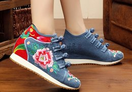 Wholesale Girl Wedges - wholesaler free shipping hot seller factory price round nose wedge heel women girl student shoe casual shoe 182