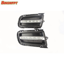 Wholesale Dimmer Relay - Dimming style Relay LED Car DRL Daytime Running Lights with Fog lamp hole for Mazda 6 2005-2009