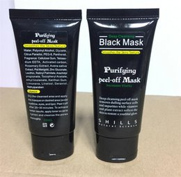 Wholesale Off Face - Shills Peel-off face Masks Deep Cleansing Black MASK 50ML Blackhead Facial Mask Shills Deep Cleansing Black MASK Matte DIY
