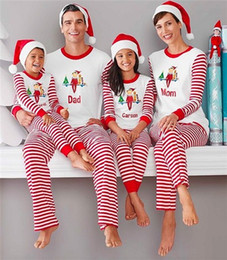 christmas pajamas Christmas Sleepwear Suit Printing Family Household  Clothing Two Piece Matching Deer Striped Pajamas Bedgown Sleepcoat 8dae45a9e