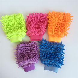 2019 cuero sintético de lavado Microfibra Chenille Wash Mitt Car Cleaning Mitt Guante de limpieza de microfibra de fideos Sponge Paño Venta al por mayor Lavadora de coches