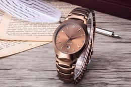 Wholesale Bronze Watches For Women - Watch Stainless Steel Quartz watch women Stopwatch Luxury Watch Top Brand relogies for men relojes Best Gift.
