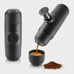 Wholesale Percolators Coffee Makers - Portable Coffee Maker Mini Espresso Machine Handheld Percolators Creative Hand Pressure Minipresso