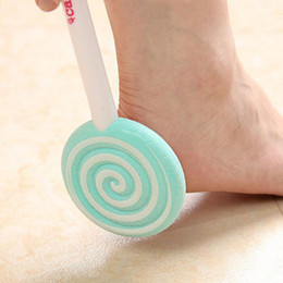 Wholesale Pedicure Foot Rasps - Cute Candystone Lollipop Style Rasp Pumice Stone Foot Callus Remover Pedicure Foot Treatment File Scraper Scrubber Body Care Tool ZA1684