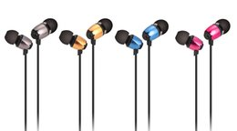 Wholesale Metal Case For Xiaomi - Abingo Metal In-Ear Earphone Noise Cancelling Super Bass Earbuds with Mic Handsfree Wired Headset with a Case for iPhone Xiaomi