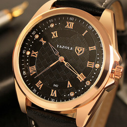 men s watch brands Coupons - Yazole 2018 Rose Gold Watches Men Top Brand Famous Men`s Watch New Male Clock Roman Wristwatch Hodinky Relogio Masculino