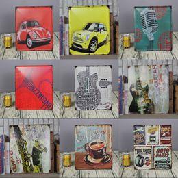 Wholesale Car Wall Plaque - wholesale 30x30cm vintage car signs plaques for bar pub wall decor tin sign metal painting retro poster