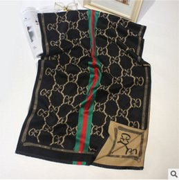 Wholesale New Women Scarf - 2017 Brand New Scarf for Winter Women luxury designer scarfs warm long section of thicker scarf size 185x65cm