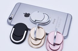 Wholesale Unique Retail - with retail package Oval Ring Phone Holder with Stand Unique Style Cell Phone Holder Fashion for iPhone X 8 8Plus Universal All Cellphone