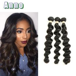 Wholesale Very Weaves - Brazilian Loose Wave Virgin Hair Human Hair Weaves 3pcs lot Brazilian Hair Weave Bundles Very Soft Brazilian Loose Wave