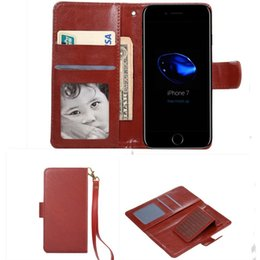 Wholesale Iphone Filp Cases - Universal Leather Wallet Phone case With Card Slots Filp Holder Folio Cover for iPhone Samsung huawei 4.3 4.8 5.3 5.5 6.3 inch