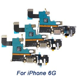 "Wholesale Iphone Usb Dock Connector - Charging Port for iPhone 6 4.7"" 6G , grade A+ USB charge Dock Connector with Headphone Jack Flex Cable"