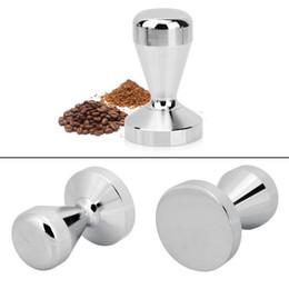 Wholesale Steel Coffee Tamper - Stainless Steel Coffee Espresso Tamper 51 57.5mm Base Coffee Bean Coffee Powder Press Hammer