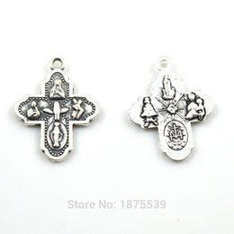 Wholesale Small Jesus - Wholesale- Small catholic medal Jesus Fatima Madonna several catholic figures together