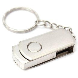 Wholesale Usb Drive 128mb - 128MB USB Flash Drive USB 2.0 Memory Stick USB Flash Disk S tainless Steel Metal Swivel U SB Flash Memory Pen Drive