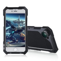 Wholesale Iphone Case Kits - For iPhone 7 Case Shockproof Slim Anti-Scratch Protective Kit with Camera Lens Kits Case Aluminum Protection Cover for iPhone 7