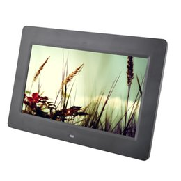 Wholesale Digital Photo Frames Mp4 - Wholesale-10.1 inch Digital Photo Frame HD Full-view porta retrato electronic Slideshow Calendar MP3 MP4 Movie Player porta fotos digital