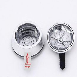 Wholesale hookah shisha charcoal - 50pcs lot Metal Shisha Hookah Bowl Charcoal Holder Head Stove Burner Heat Keeper Mangueira Narguile Carbon box Chicha Hookah
