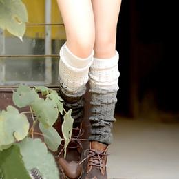 Wholesale Ladies Cashmere Socks - Wholesale- women socks lady Gradually Changing Color Leg Warmer Soft female Leggin Knitted Cashmere Bohemia gradient warm sock 8 colours