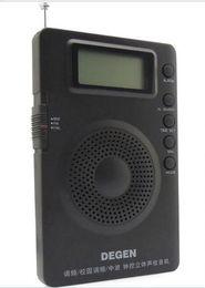 Wholesale High Band Radio - Wholesale-high quality DEGEN DE215 Stereo Digital display FM FML MW Radio Receiver Mini Handle 3 Bands